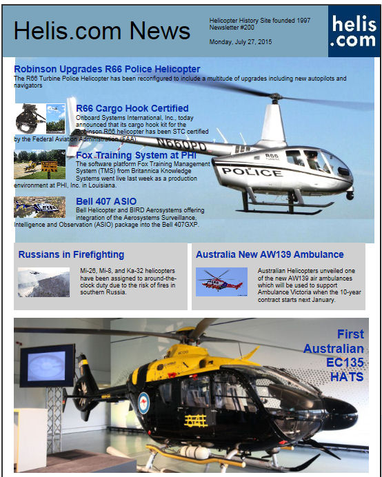Helicopter News July 27, 2015 by Helis.com