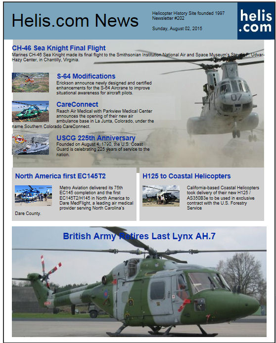 Helicopter News August 02, 2015 by Helis.com