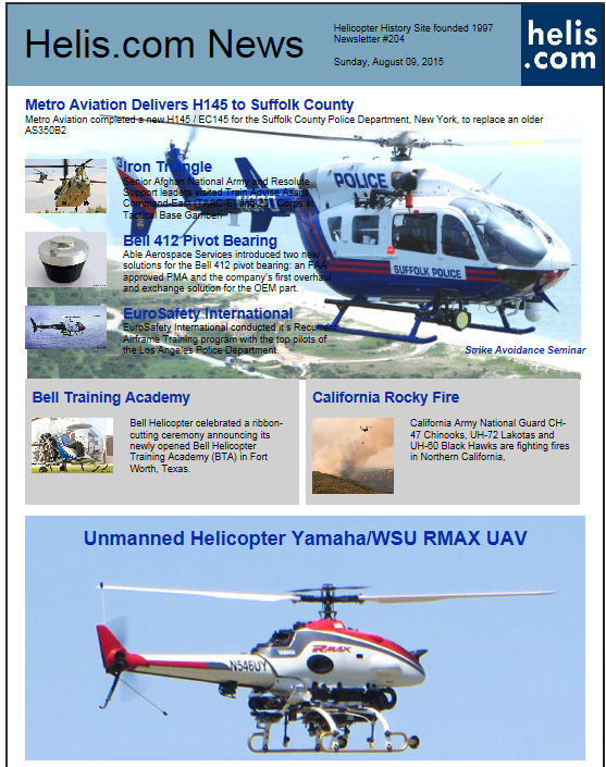 Helicopter News August 09, 2015 by Helis.com