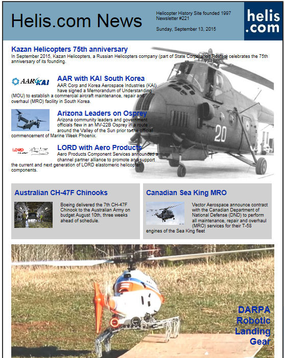 Helicopter News September 13, 2015 by Helis.com