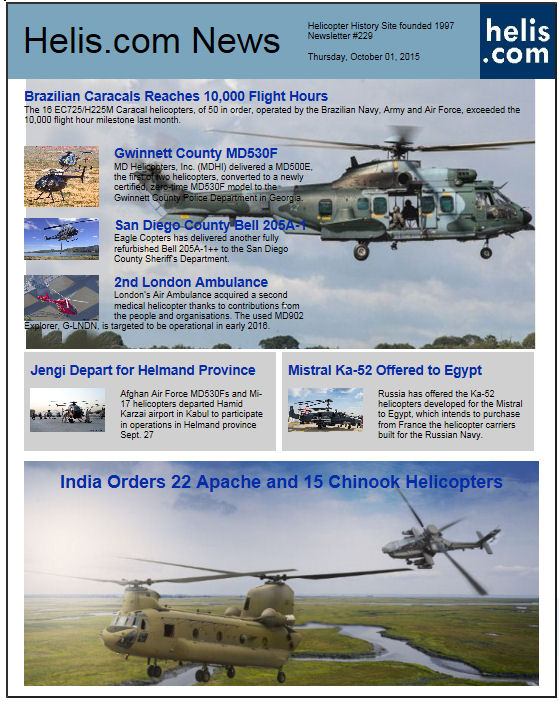 Helicopter News October 01, 2015 by Helis.com