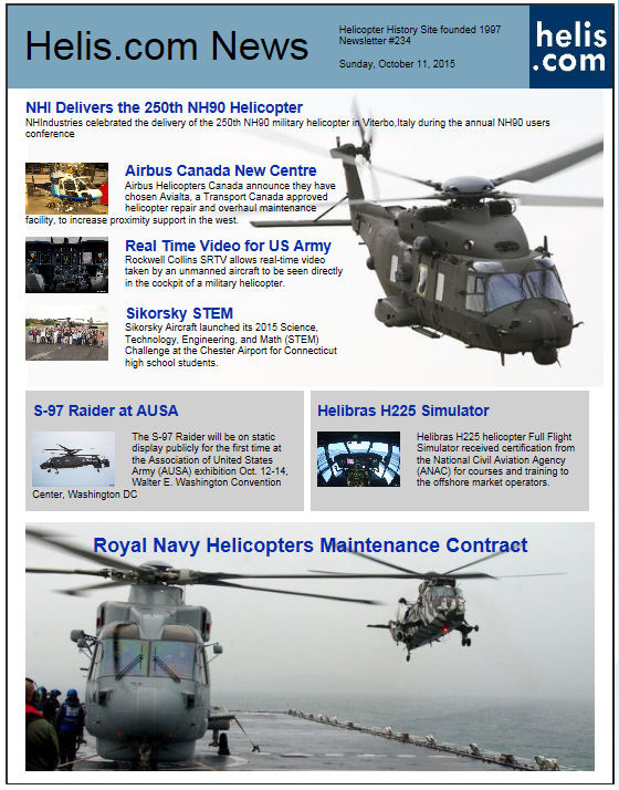 Helicopter News October 11, 2015 by Helis.com