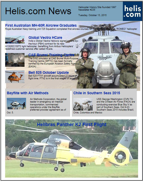 Helicopter News October 13, 2015 by Helis.com