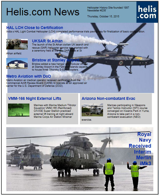 Helicopter News October 15, 2015 by Helis.com