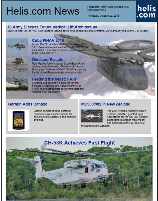 Helicopter News October 29, 2015 by Helis.com