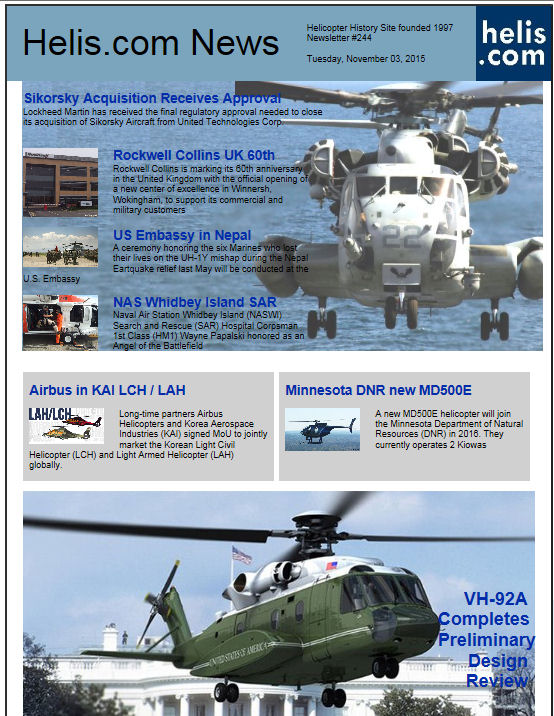 Helicopter News November 03, 2015 by Helis.com