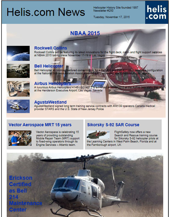 Helicopter News November 17, 2015 by Helis.com
