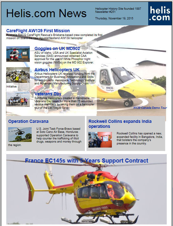 Helicopter News November 19, 2015 by Helis.com