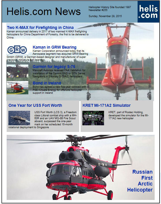 Helicopter News November 29, 2015 by Helis.com