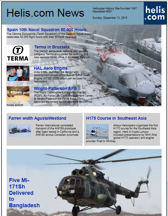 Helicopter News December 13, 2015 by Helis.com
