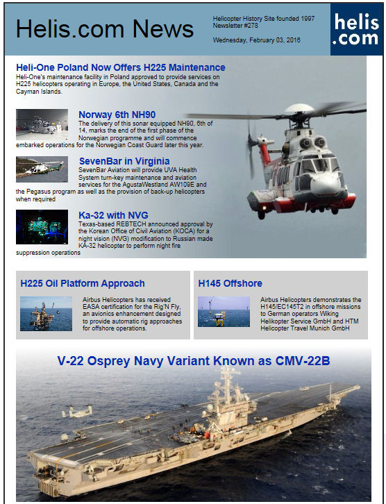 Helicopter News February 03, 2016 by Helis.com