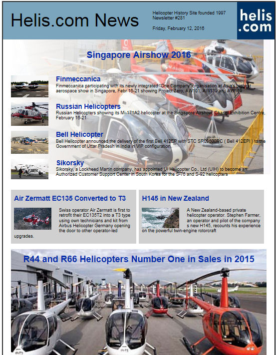 Helicopter News February 12, 2016 by Helis.com