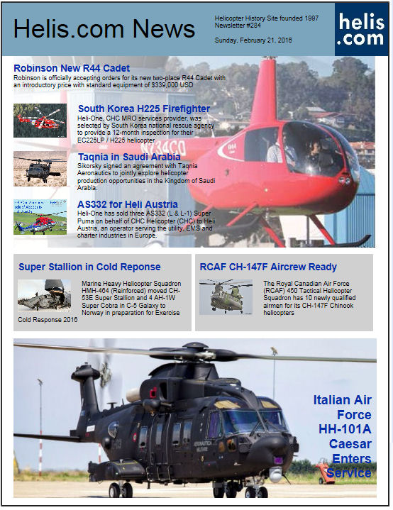 Helicopter News February 21, 2016 by Helis.com