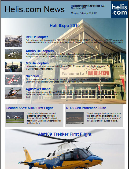 Helicopter News February 29, 2016 by Helis.com