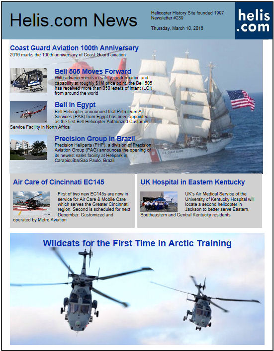 Helicopter News March 10, 2016 by Helis.com