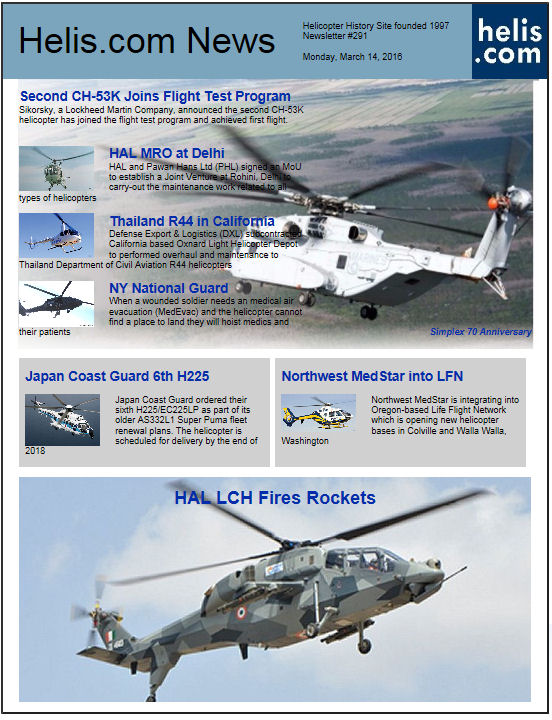 Helicopter News March 14, 2016 by Helis.com