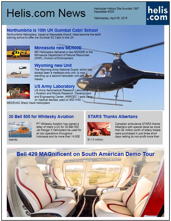 Helicopter News April 06, 2016 by Helis.com
