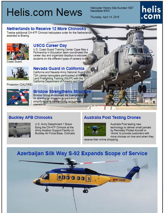 Helicopter News April 14, 2016 by Helis.com