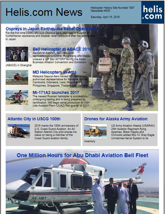 Helicopter News April 16, 2016 by Helis.com