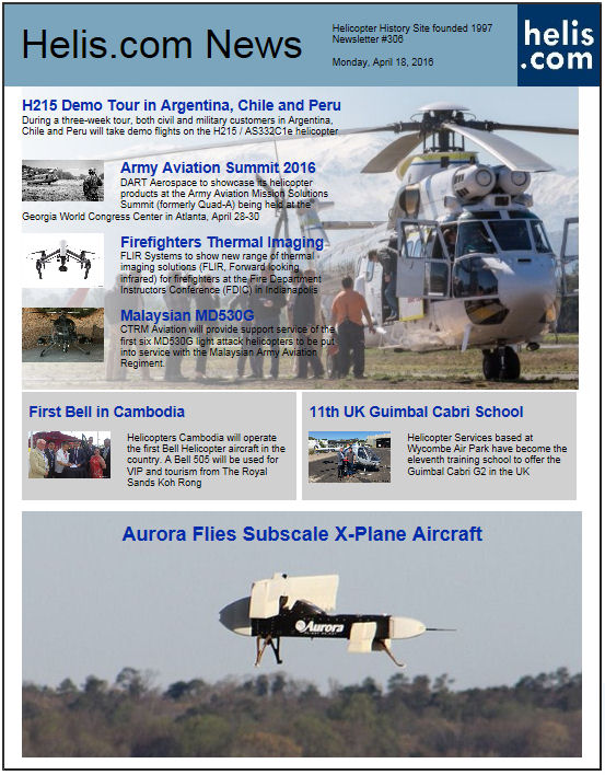 Helicopter News April 18, 2016 by Helis.com
