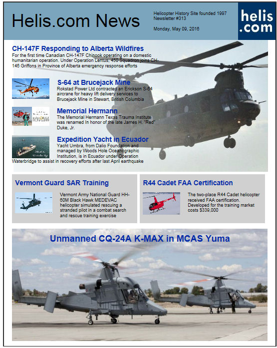 Helicopter News May 09, 2016 by Helis.com