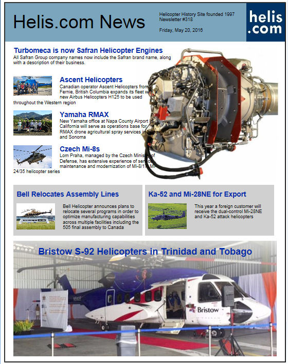 Helicopter News May 20, 2016 by Helis.com