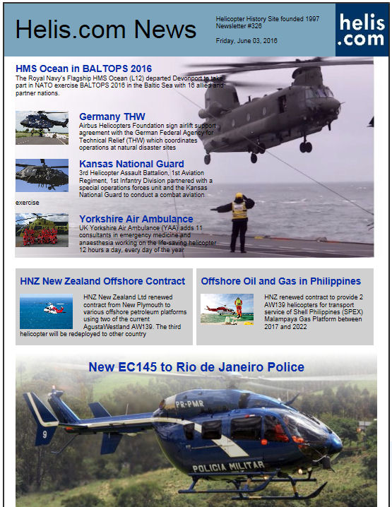Helicopter News June 03, 2016 by Helis.com