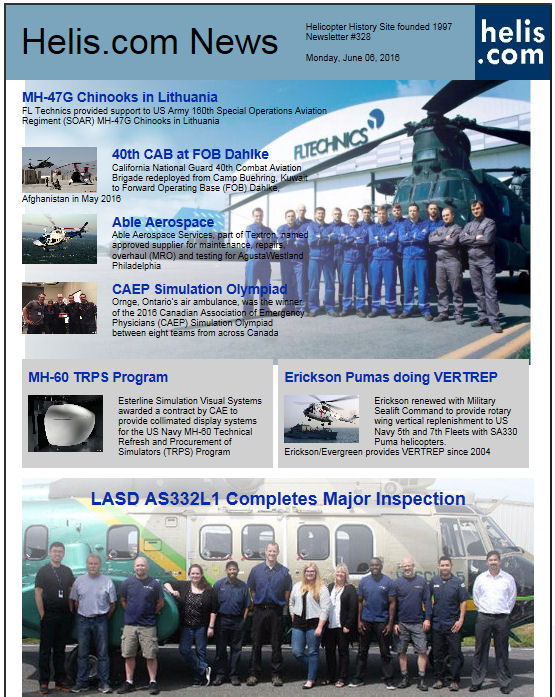 Helicopter News June 06, 2016 by Helis.com