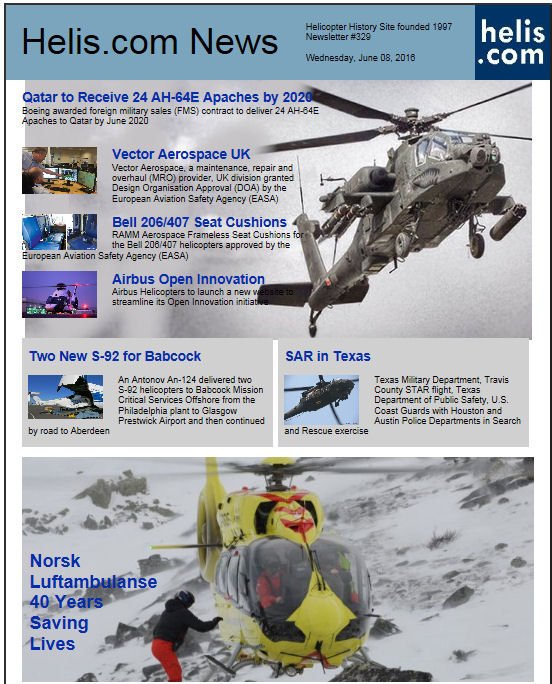 Helicopter News June 08, 2016 by Helis.com