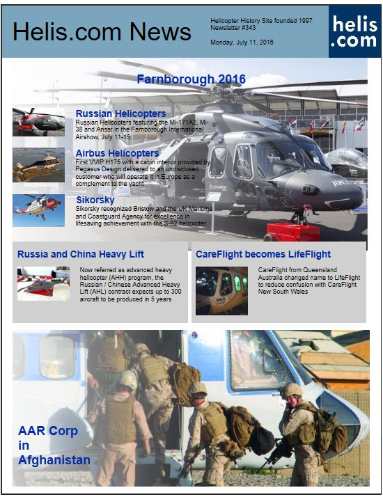 Helicopter News July 11, 2016 by Helis.com