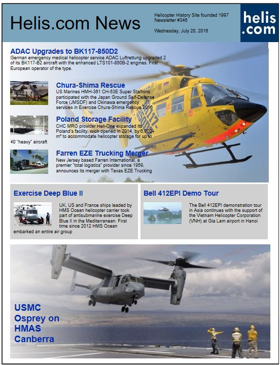 Helicopter News July 20, 2016 by Helis.com