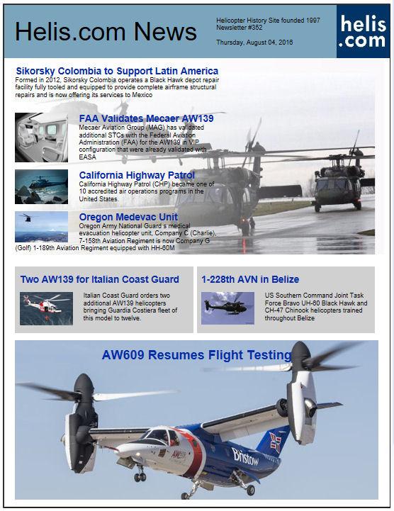 helicopter newsletter 352 helicopter database