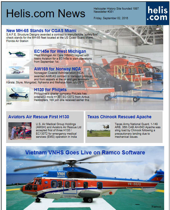 Helicopter News September 02, 2016 by Helis.com
