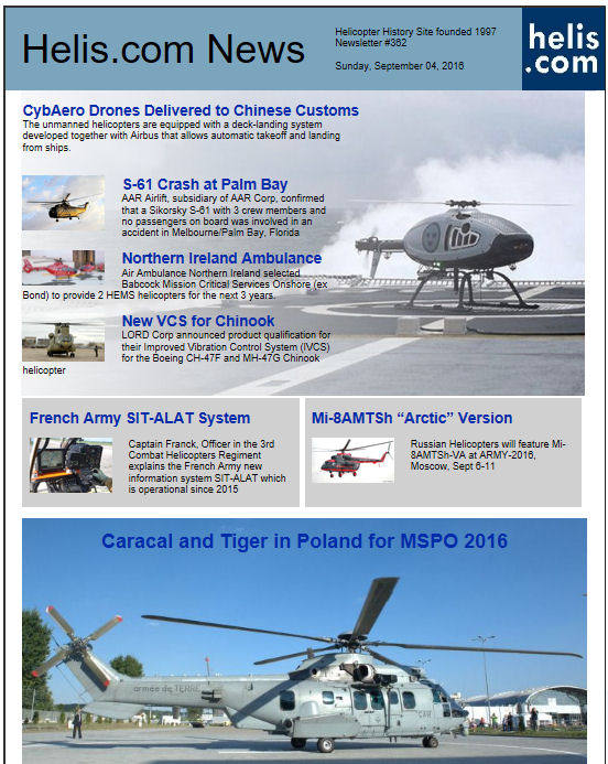 Helicopter News September 04, 2016 by Helis.com