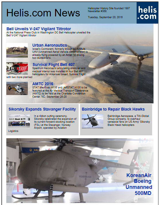 Helicopter News September 20, 2016 by Helis.com