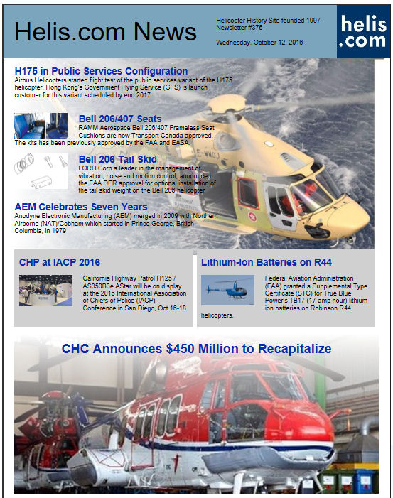 Helicopter News October 12, 2016 by Helis.com