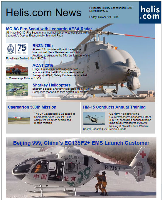 Helicopter News October 21, 2016 by Helis.com