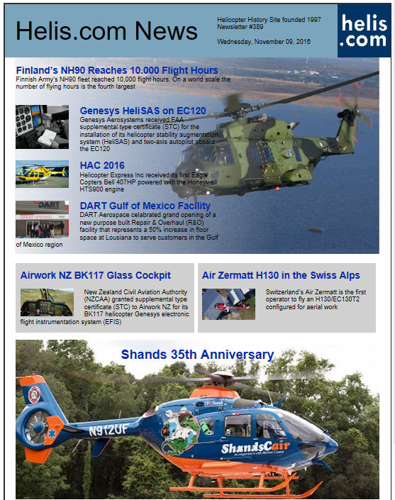 Helicopter News November 09, 2016 by Helis.com