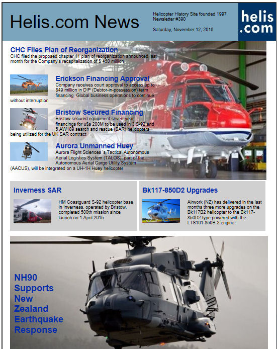 Helicopter News November 12, 2016 by Helis.com