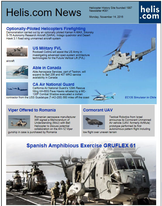 Helicopter News November 14, 2016 by Helis.com