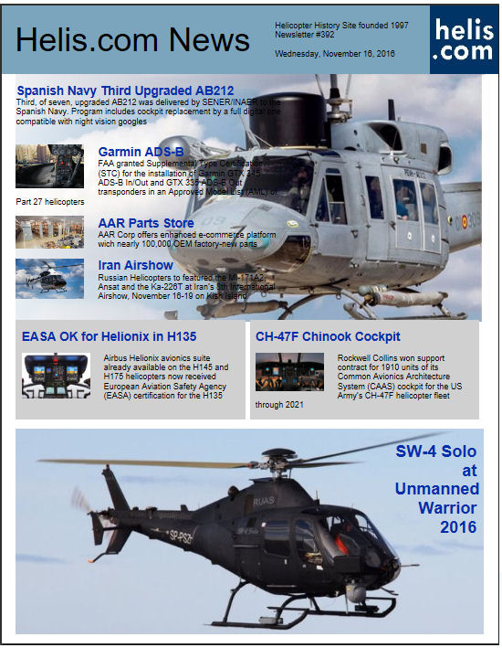 Helicopter News November 16, 2016 by Helis.com