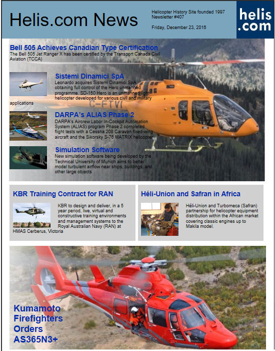 Helicopter News December 23, 2016 by Helis.com