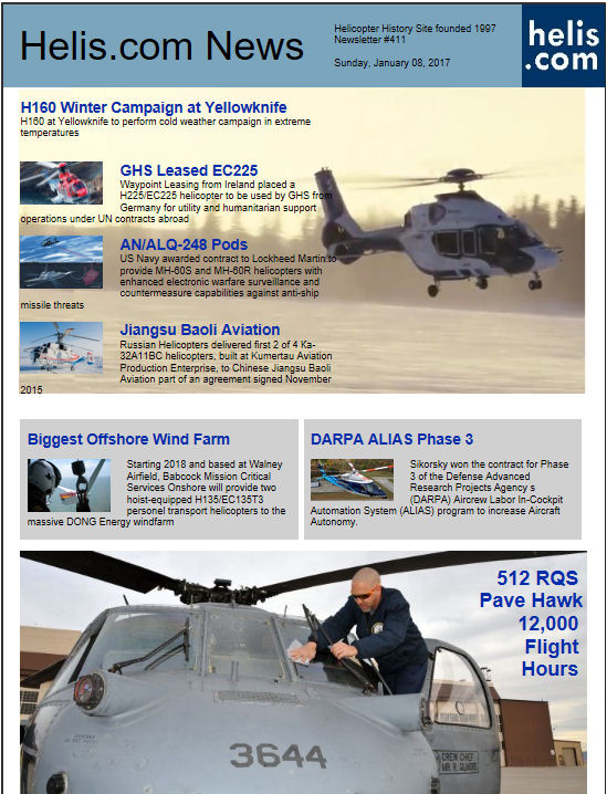 Helicopter News January 08, 2017 by Helis.com