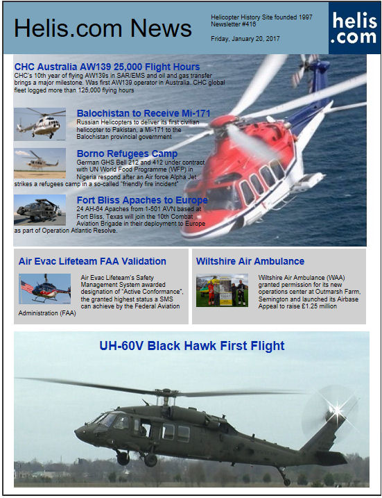 Helicopter News January 20, 2017 by Helis.com