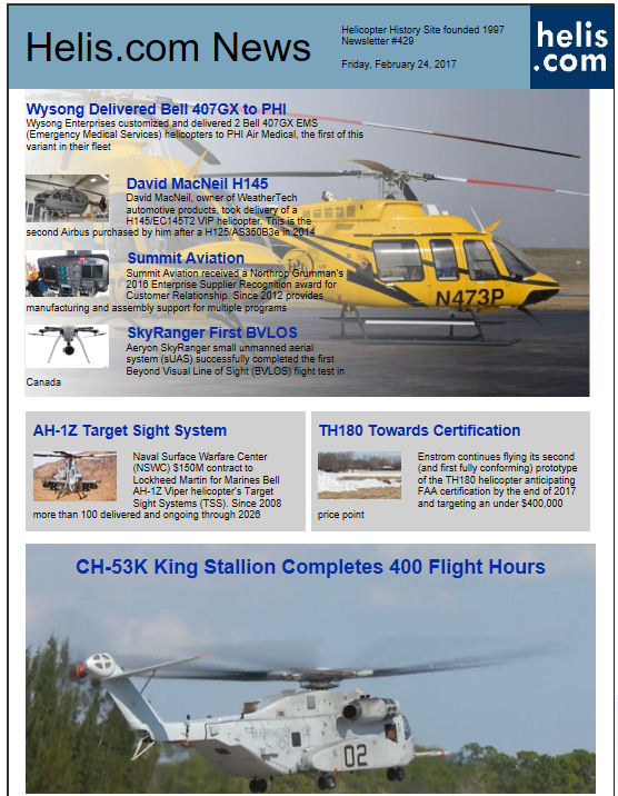 Helicopter News February 24, 2017 by Helis.com
