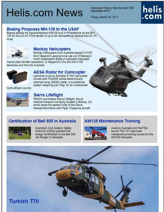 Helicopter News March 03, 2017 by Helis.com