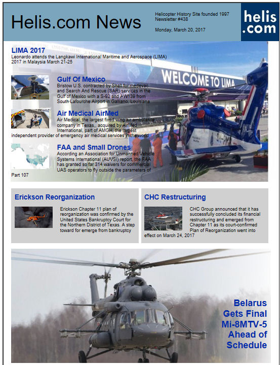 Helicopter News March 20, 2017 by Helis.com