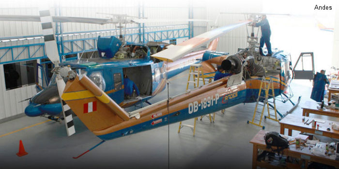 Servicios aereos de los andes helicopter database