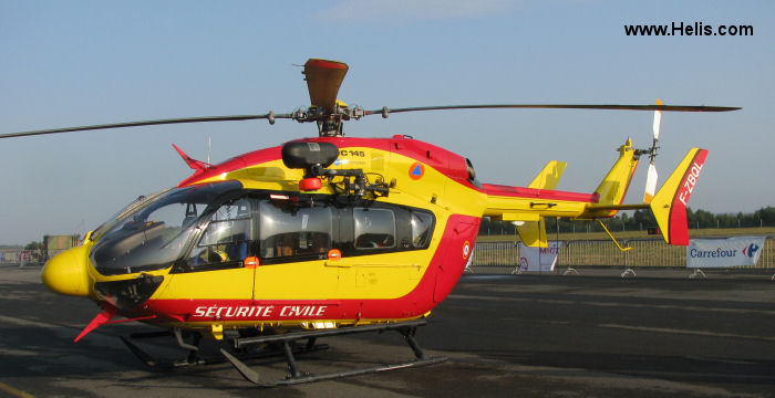 Helicopter Eurocopter EC145 Serial 9452 Register D-HADK F-ZBQL used by  Eurocopter Deutschland