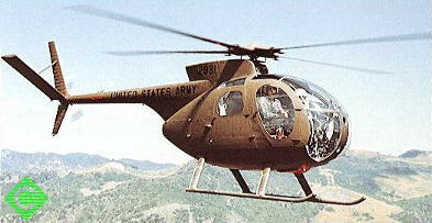 OH-6 in flight